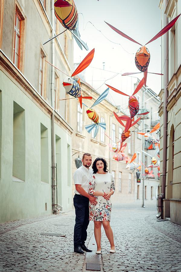sesja narzeczeńska, Lublin, Stare Miasto, Noc Kultury, ulica Rybna