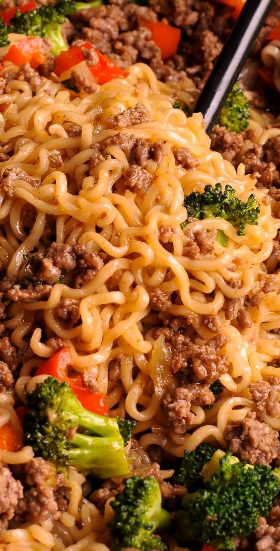 Beef Ramen Noodle Stir Fry Recipe