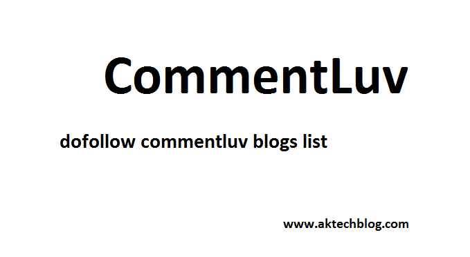 Commentluv dofollow blog