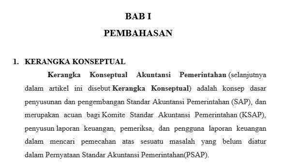 Download Contoh Makalah Kerangka Konseptuan Standar Akuntansi Pemerintahan Farihin S Blog