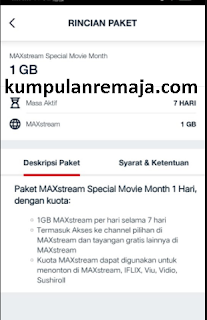 Cara Membeli Paket MAXstream Special Movie Month Rp 10 di My Telkomsel