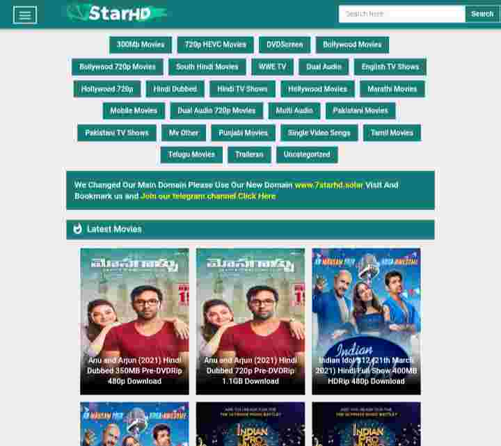 7StarHD 2021 - Download 500MB Movies, Bollywood, South Hindi Dubbed Movies - Bhojpuri Guru
