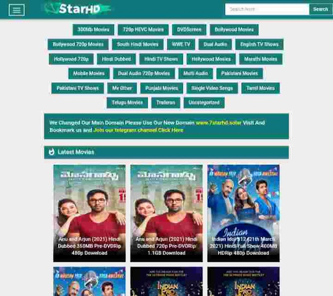 7StarHD 2021 - Download 500MB Movies, Bollywood, South Hindi Dubbed Movies - Bhojpuri Guru