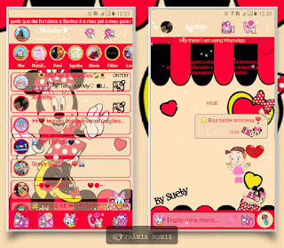 Minnie Theme For YOWhatsApp & KM WhatsApp By Thania