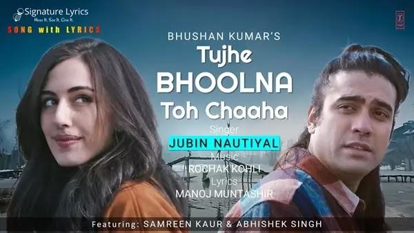 Tujhe Bhoolna Toh Chaaha Lyrics - Jubin Nautiyal | Rochak Kohli