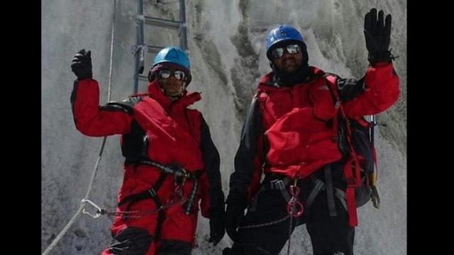Foto Denish dan Tarakeshwari saat mendaki