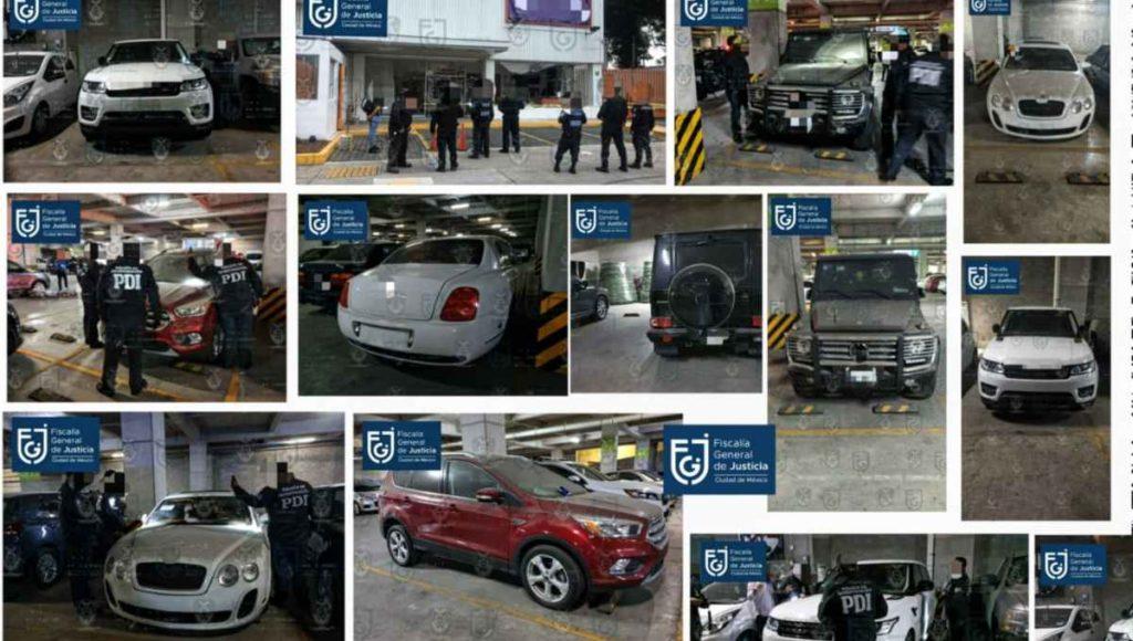 Aseguran vehículos de lujo de la Unión Tepito en plaza comercial de Azcapotzalco