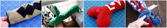 Repairing damaged dog toys for continued safe use (sewing, patching, trimming)