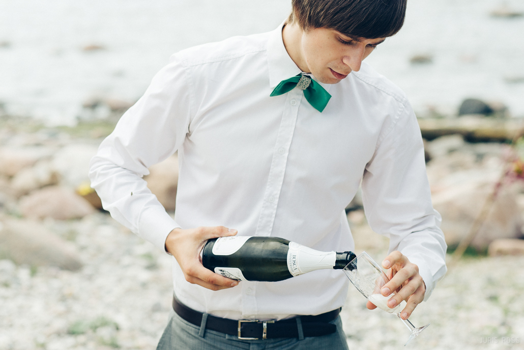 dzērieni šampānietis kāzās