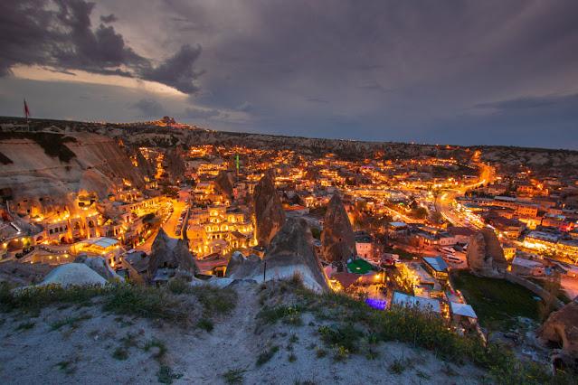 Tramonto a Goreme dal Goreme flag view point-Cappadocia