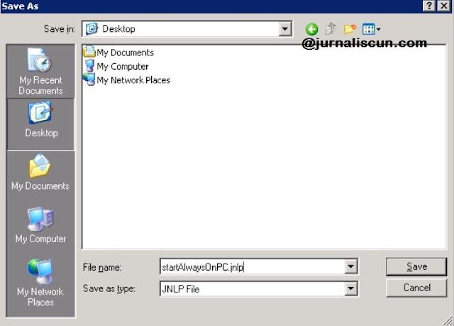 Save File JNLP Yang Sudah Didownload