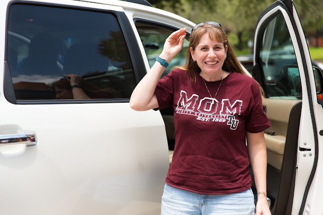Trinity mom on move in day