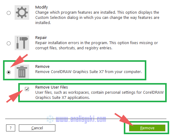 Cara Uninstall CorelDRAW X7 di Windows 10