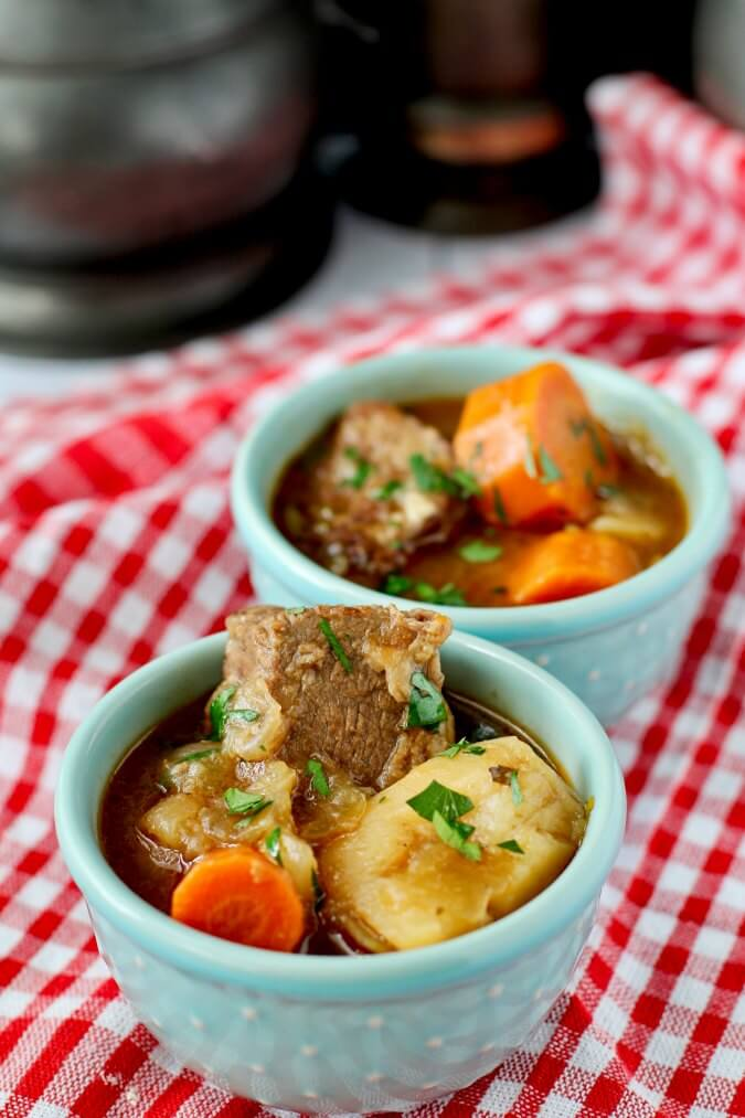 Guinness Beef Stew in small bowls