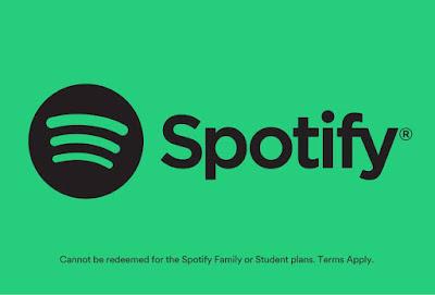 Aplikasi Spotify untuk mendengarkan musik secara onlinedi laptop