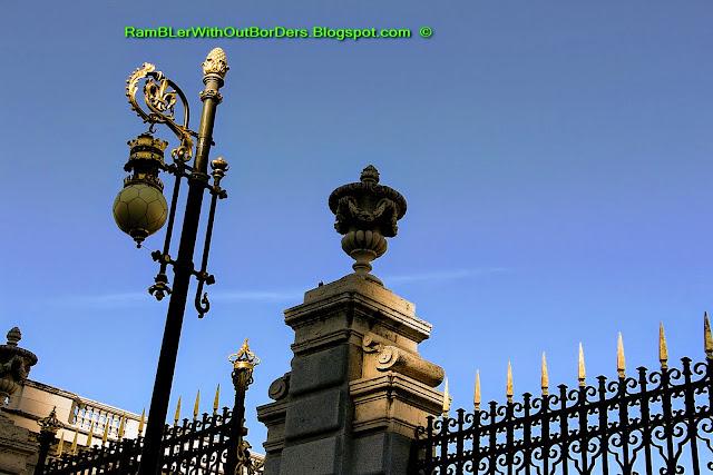 Gate, the Royal Palace, Madrid, Spain