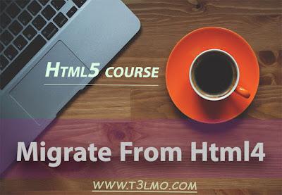 تحويل كود html4 لhtml5