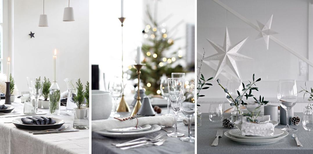 como decorar tu mesa en nochevieja estilo escadinavo y nórdico fin de año