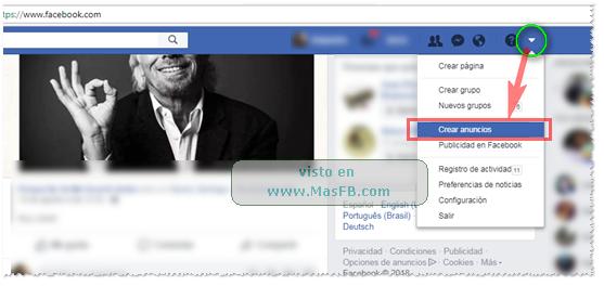 Crear anuncio Facebook - MasFB