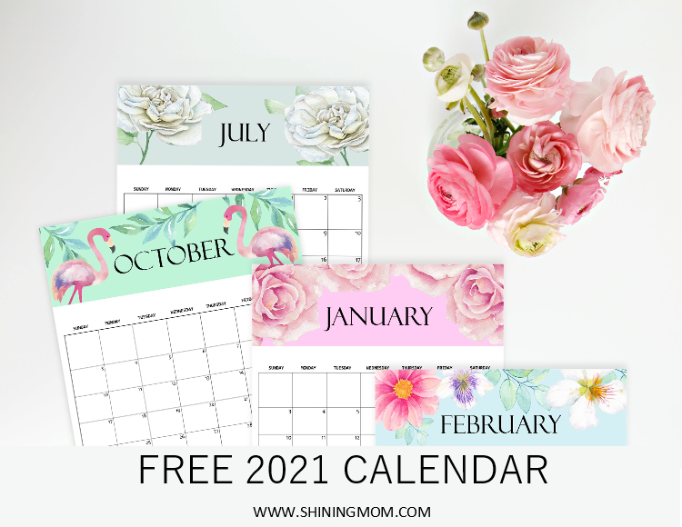 Musings Of An Average Mom Free Printable 2021 Calendars
