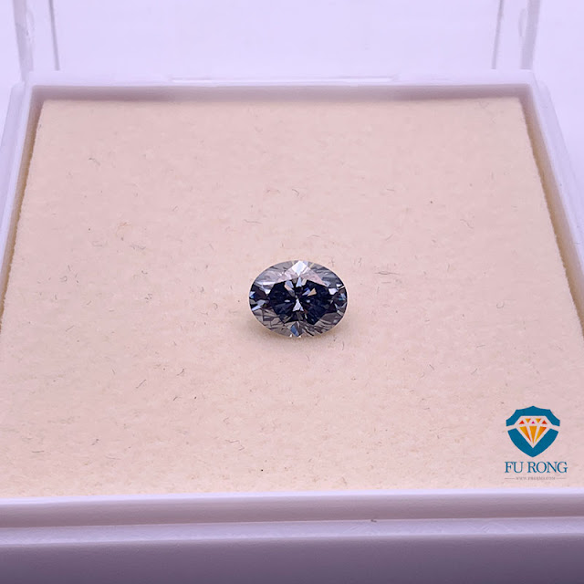 Grey-Color-Moissanite-Oval-Shape-Gemstone-China