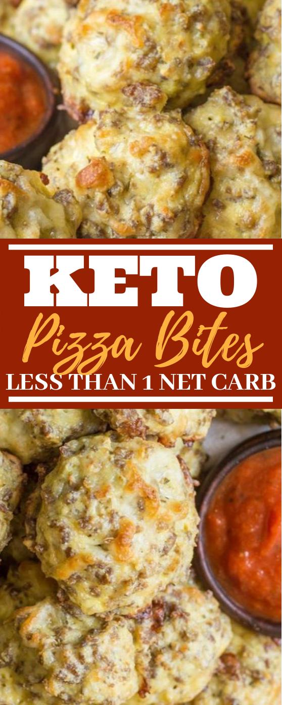 Easy Keto Pizza Bites #keto #lowcarb