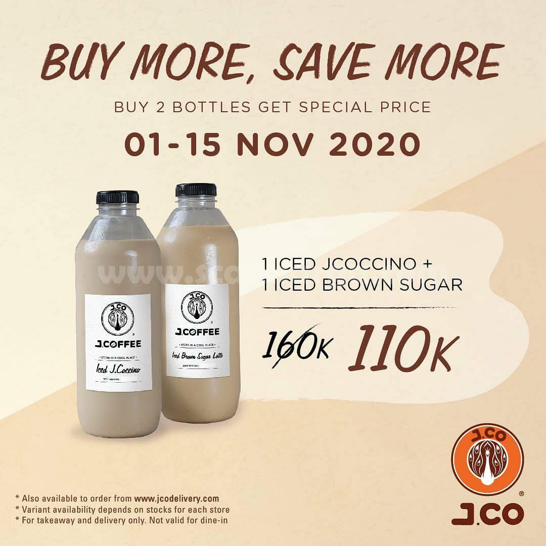 Promo JCO Harga Spesial 2 Botol JCOFFEE 1 Liter hanya Rp 110.000**