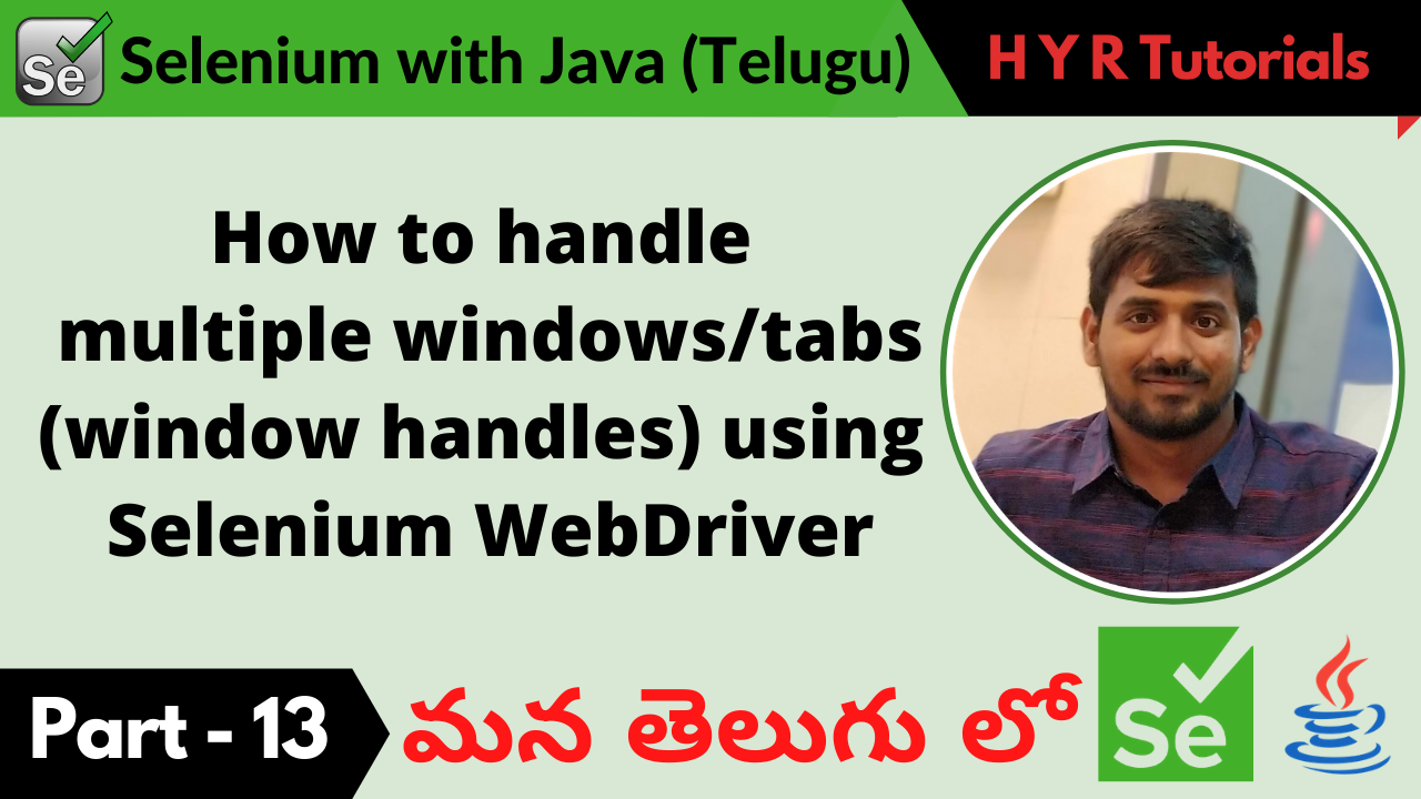 How to handle multiple windows or tabs using Selenium WebDriver