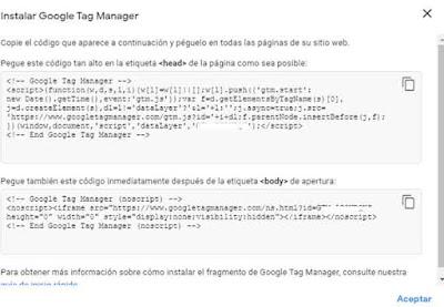 codigo de google tag manager