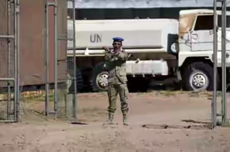 A member of the United Nations peace mission MINURSO at a base in Bir-Lahlou, in the disputed territory of Western Sahara, on March 5, 2016. By Farouk Batiche (AFP/File)  United Nations (United States) (AFP) - The UN Security Council said Tuesday that more UN staff must return to the peace mission in Western Sahara after Morocco allowed a first group of 25 staffers back at their posts.