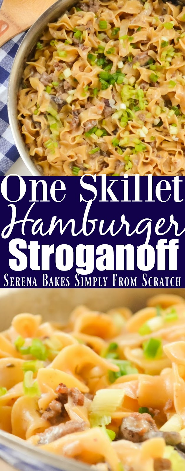 One Skillet Hamburger Beef Stroganoff Helper is an easy dinner in under 25 minutes.