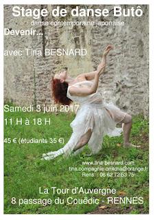 Tina, Besnard, danse, contemporaine, japonaise, stage, atelier, Rennes, japon, ille et vilaine, bretagne