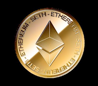 イーサリアム(Ethereum)のフリー素材(金貨ver)