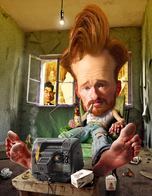 Weekend at Conan O'Brien's - Rodney Pike Humorous Illustrator