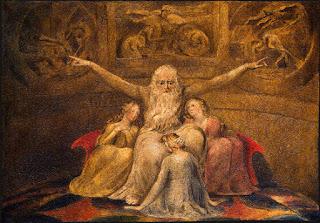 Nomes bíblicos de menina: letra Q (Imagem: Jó e suas filhas - William Blake)