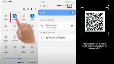 cara melihat qr code wifi di samsung