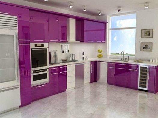 Kabinet Dapur Purple Desainrumahid