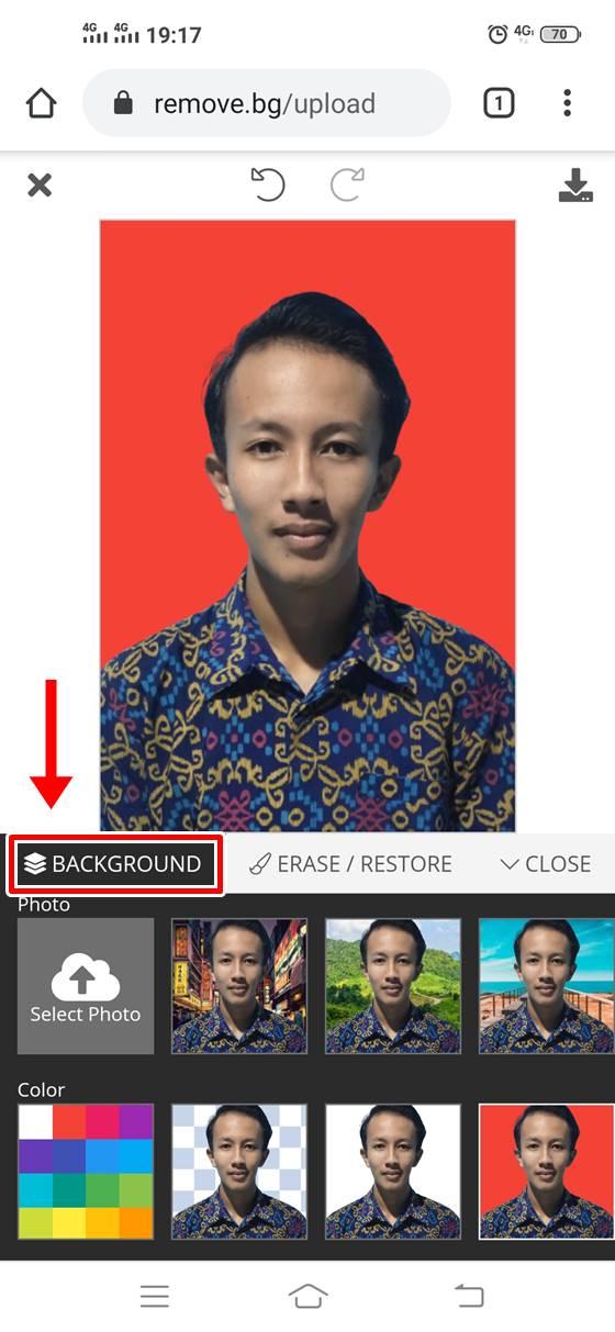 Cara Ganti Background Pas Foto di HP