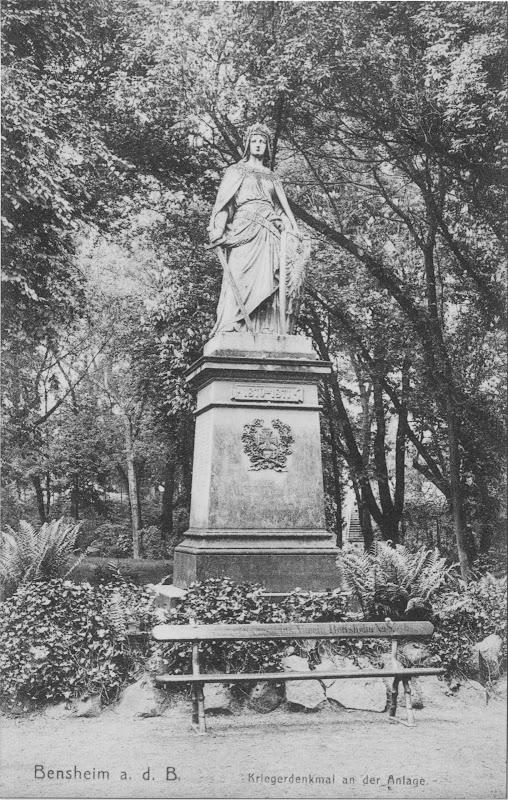 """heutiger Beauner-Platz, Die """"Germania"""" - Kriegerdenkmal von 1870/71, Quelle Stadtarchiv, Bereich: Beauner-Platz, lfd.No.: 0001.jpg"""