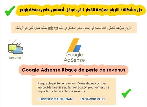 Google Adsense Risque de perte de revenus