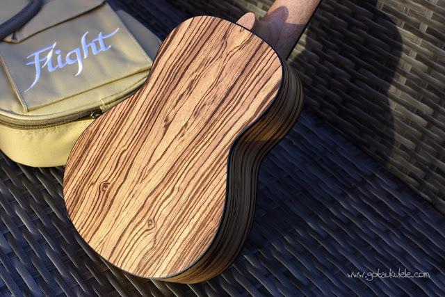 Flight DUS 320 SP/ZEB Soprano ukulele back