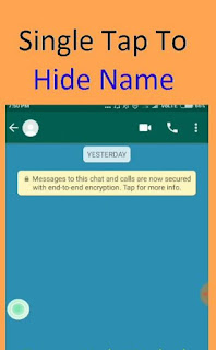 Hide WhatsApp name and profile picture