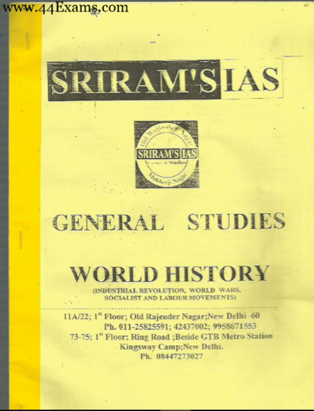 World-History-by-Srirams-IAS-For-UPSC-Exam-PDF-Book
