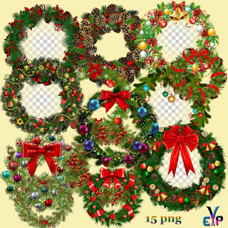 Christmas design garlands