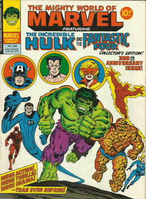 Mighty World of Marvel #300, Hulk, Fantastic Four, Daredevil, Captain America, Sub-Mariner, Spitfire
