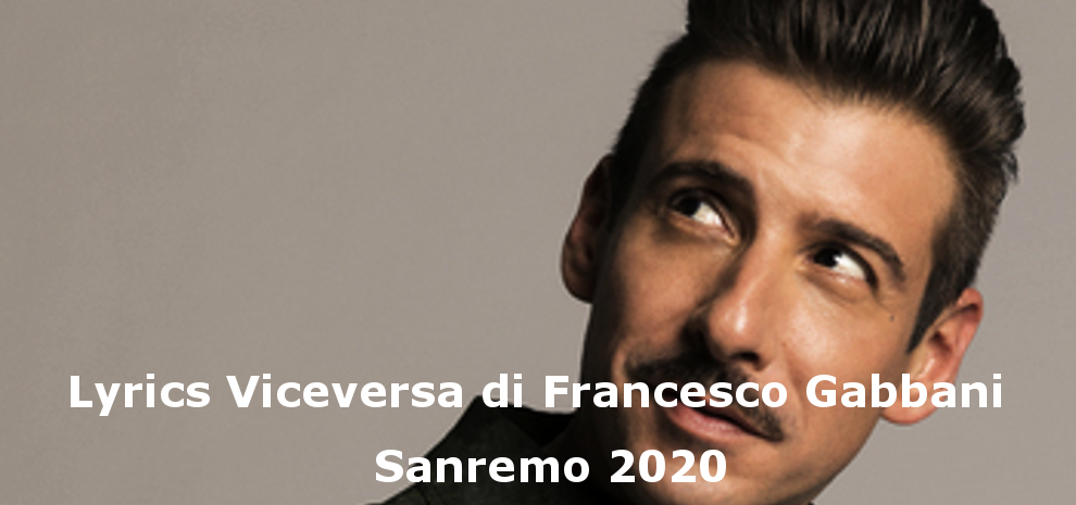 Sanremo 2020, Viceversa, Francesco Gabbani