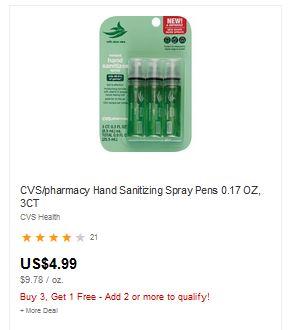 Deals On Hand Sanitizer at CVS