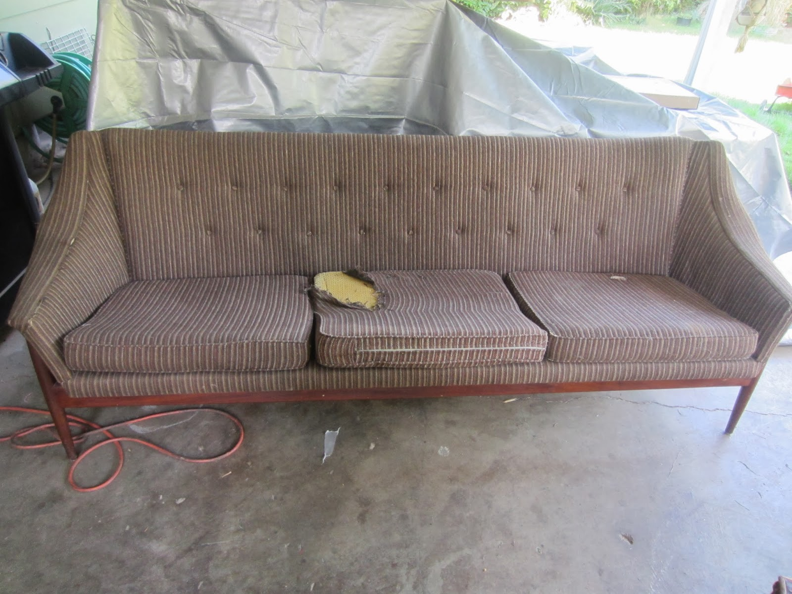 dux sofa by folke ohlsson home theatre style sectional with pull out bed remnant reupholstered