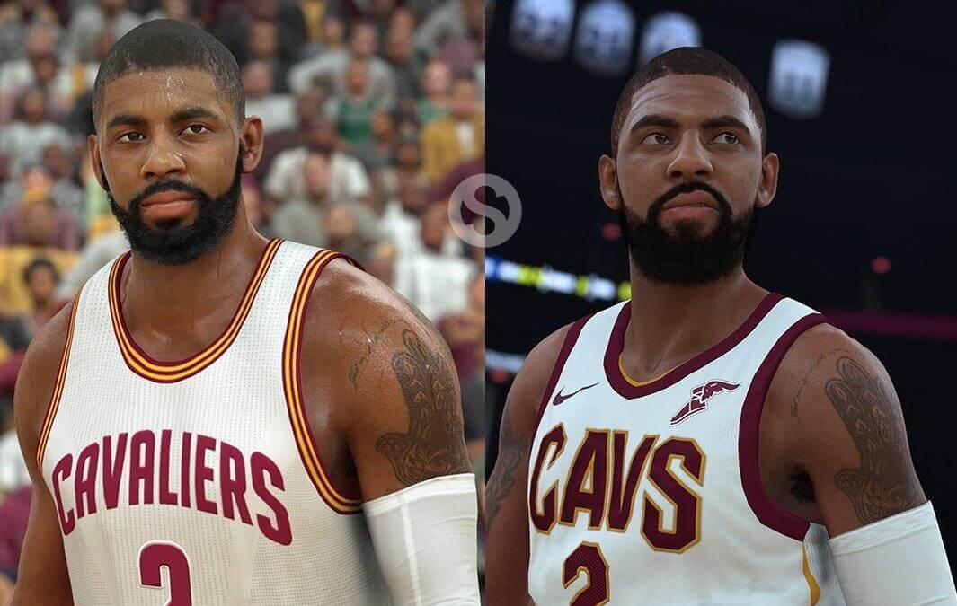 Kyrie Irving Comparison: NBA 2k17 vs. NBA 2k18