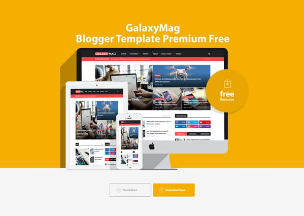 GalaxyMag Blogger Template free